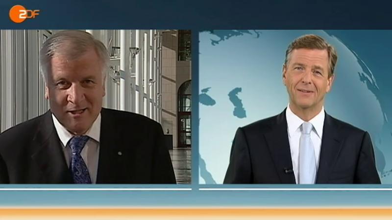 Horst Seehofer im ZDF