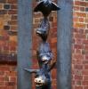 Die gestifteten Bremer Stadtmusikanten (Riga, hinter der Petrikirche)