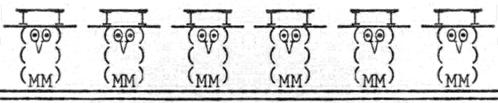 Schreibmaschinen-Eulen