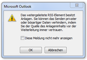 Outlook-Meldung