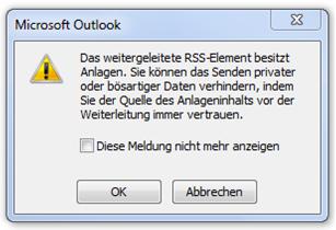 Outlook-Meldung